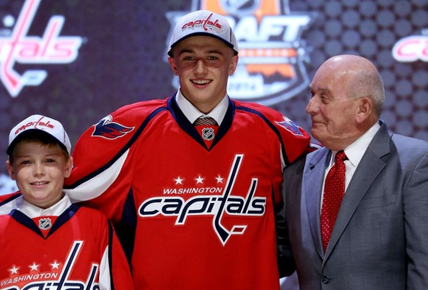 Vrána at the NHL Entry Draft in Philadelphia, Pennsylvania, shortly after getting selected by the Capitals. Photo courtesy of Pressbox D.C.