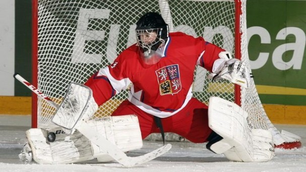Vaněček playing for the Czech Under-18 national team. Photo courtesy of rmnb.com