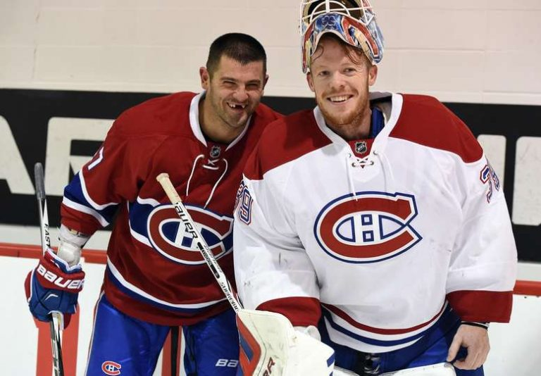 Alexander Radulov, Mike Condon (Photo by Montreal Canadiens)